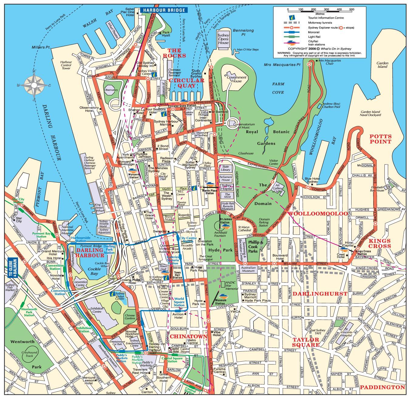 Kort Over Sydney Sydney Kort Byen Australien