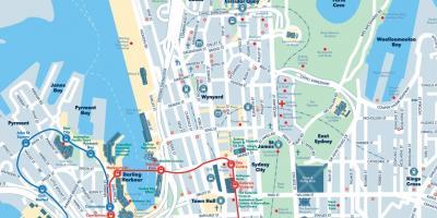 Sydney Kort Kort Sydney Australien